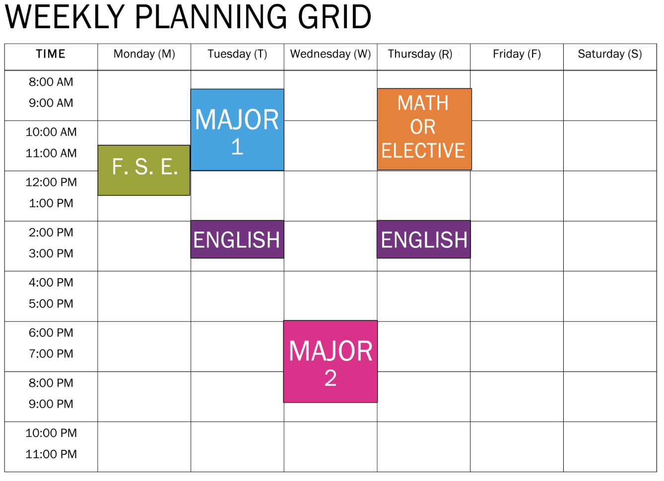 free college schedule maker blog